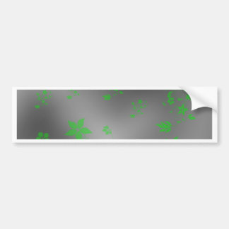 small delicate Asian flowers on a festive metal Bumper Sticker
