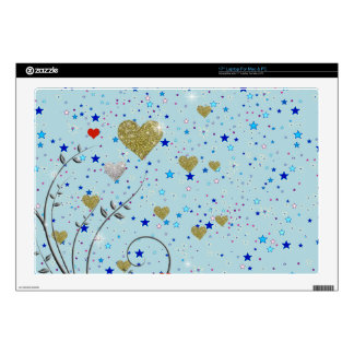 small delicate hearts skin for laptop