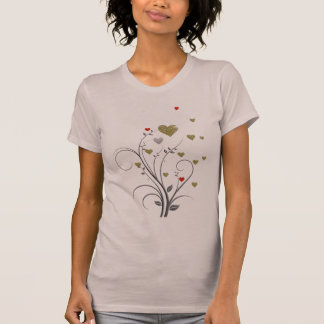 small delicate hearts tee shirt