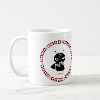 Small demoniac kureko classic white coffee mug