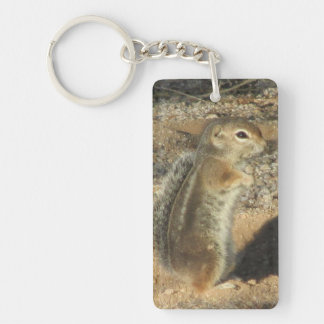 Small Desert Squirrel Keychain