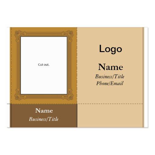 Small desk picture frame business card zazzle for Business card picture frame