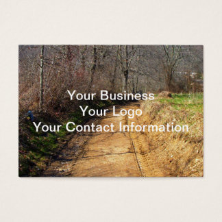 Small Dirt Country Road Business Card