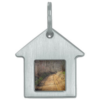 Small Dirt Country Road Pet Name Tag