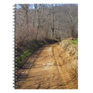 Small Dirt Country Road Spiral Notebook