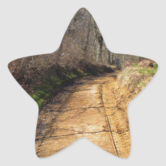 Small Dirt Country Road Star Sticker