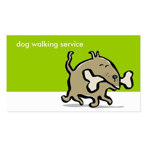 small dog big bone dog walking double sided standard business cards pack of 100 zazzle. Black Bedroom Furniture Sets. Home Design Ideas