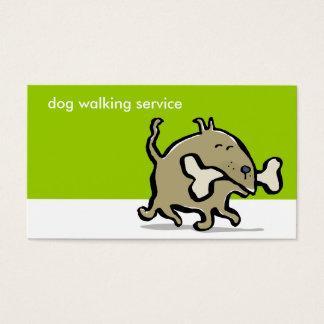 small dog, big bone - dog walking - business card