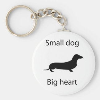 small dog big heart keychain