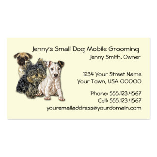 Small Dog Mobile Grooming 2012 Calendar Business C Business Card Templates