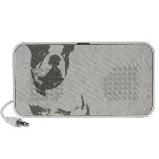 Small Dog Print graphic Portable Speaker