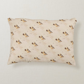 small dog pug baby playing in the summer accent pillow