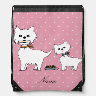 small dogs drawstring bag