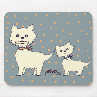 small dogs mouse pad
