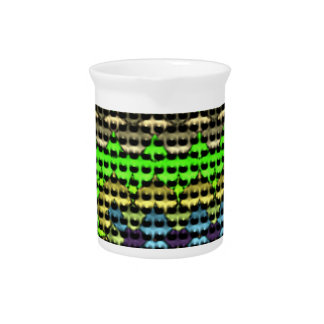 Small dots on abstract pattern drink pitcher