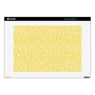 """Small Dots Sunny Lemon Decals For 15"""" Laptops"""