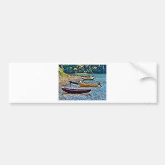 Small East Coast  Ftishermen Boats Bumper Sticker