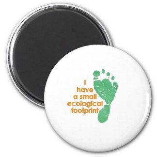 Small Ecological Footprint 2 Inch Round Magnet
