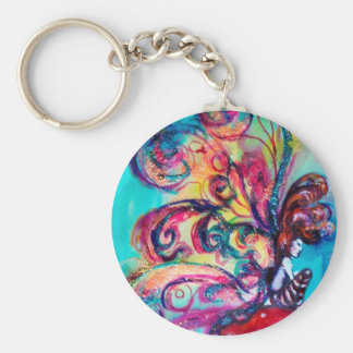 Small Elf of Mushrooms Basic Round Button Keychain
