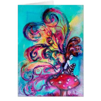 Small Elf of Mushrooms Greeting Card