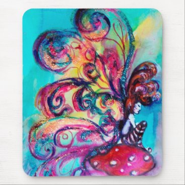 Halloween Themed Small Elf of Mushrooms Mouse Pad