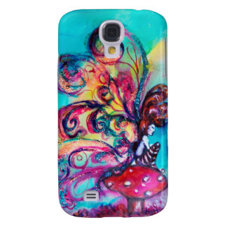 SMALL ELF OF MUSHROOMS ,pink yellow sparkle gold Samsung Galaxy S4 Cover