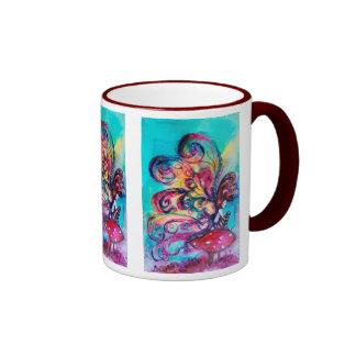 Small Elf of Mushrooms Ringer Coffee Mug