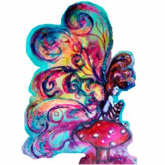 Small Elf of Mushrooms Standing Photo Sculpture