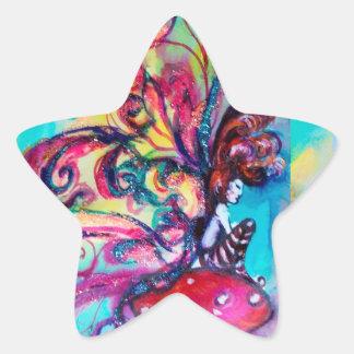 Small Elf of Mushrooms Star Star Sticker