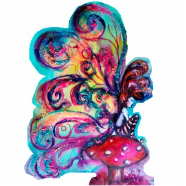 Halloween Themed Small Elf of Mushrooms Statuette