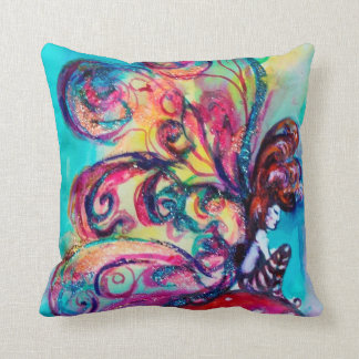 SMALL ELF OF MUSHROOMS THROW PILLOW