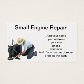 Small Engine Repair Business Card