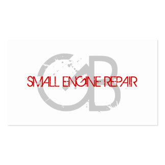 Small Engine Repair Business Cards