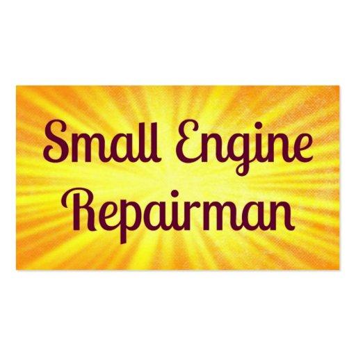 Small Engine Repairman Sunshine Business Card
