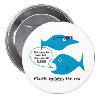 Small fish with sunglasses pinback button