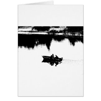Small Fishing Boat in Pen and Ink Card