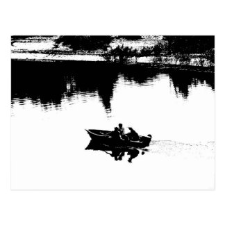 Small Fishing Boat in Pen and Ink Postcard