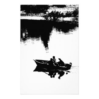 Small Fishing Boat in Pen and Ink Stationery