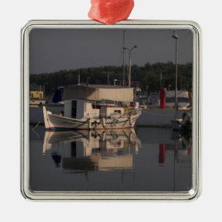 Small Fishing Boat Metal Ornament