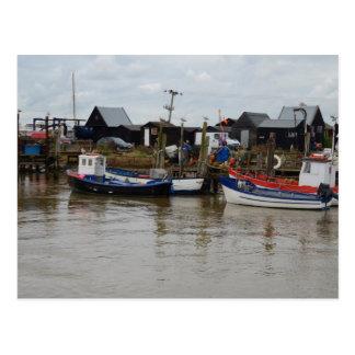 Small Fishing Boats Postcard