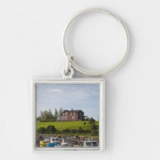 Small fishing village near Grande-Riviere, Silver-Colored Square Keychain