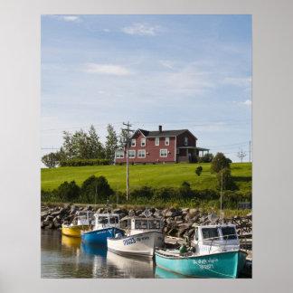 Small fishing village near Grande-Riviere, Poster
