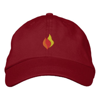 Small Flames Embroidered Baseball Cap