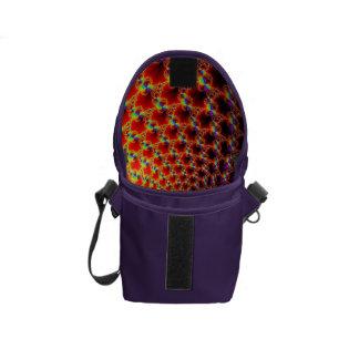 Small Flap Bag, Rainbow Colored, Fractal Design Messenger Bag