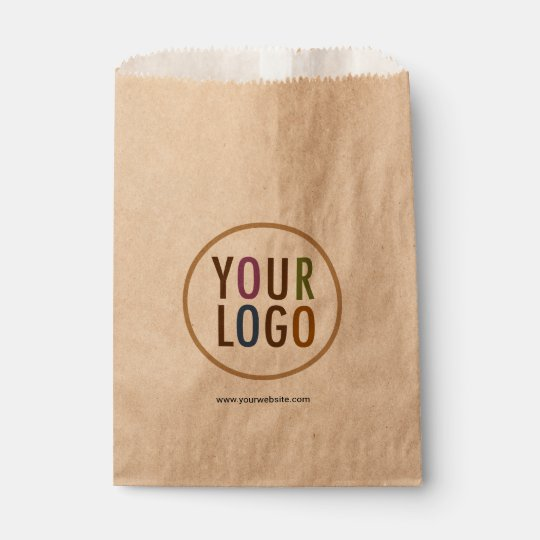 Small Flat Kraft Brown Paper Bags With Custom Logo