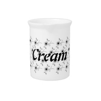 Small Floral Cream Pitcher