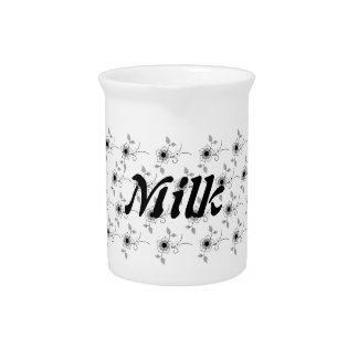 Small Floral Milk Pitcher