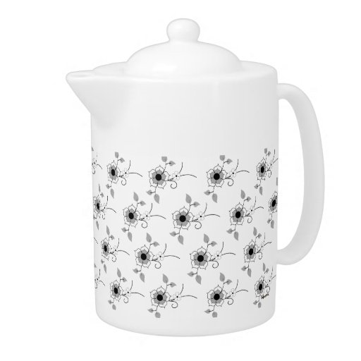 Small Floral Pattern Teapot