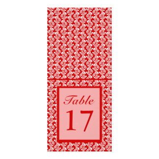 Small Flower Pattern Red + Custom Color Rack Card