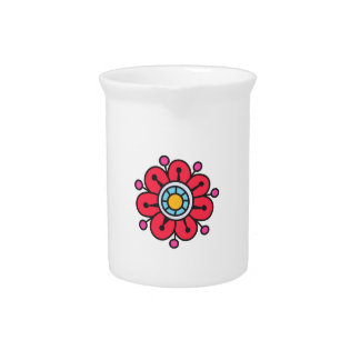SMALL FLOWER BEVERAGE PITCHERS